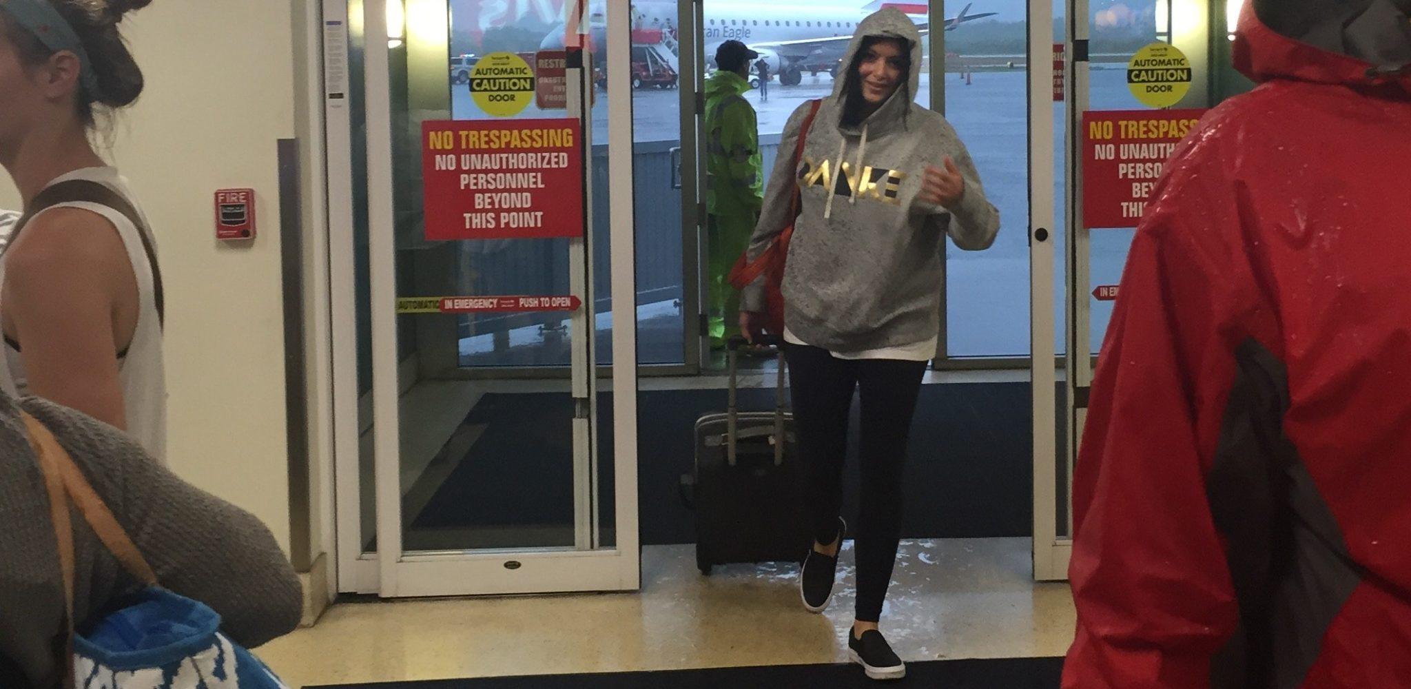Andrea arrives EYW