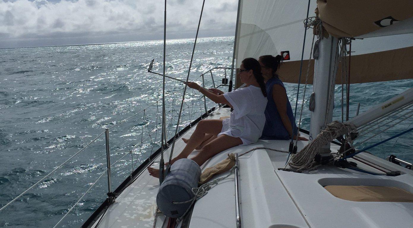 Web Fishing on deck