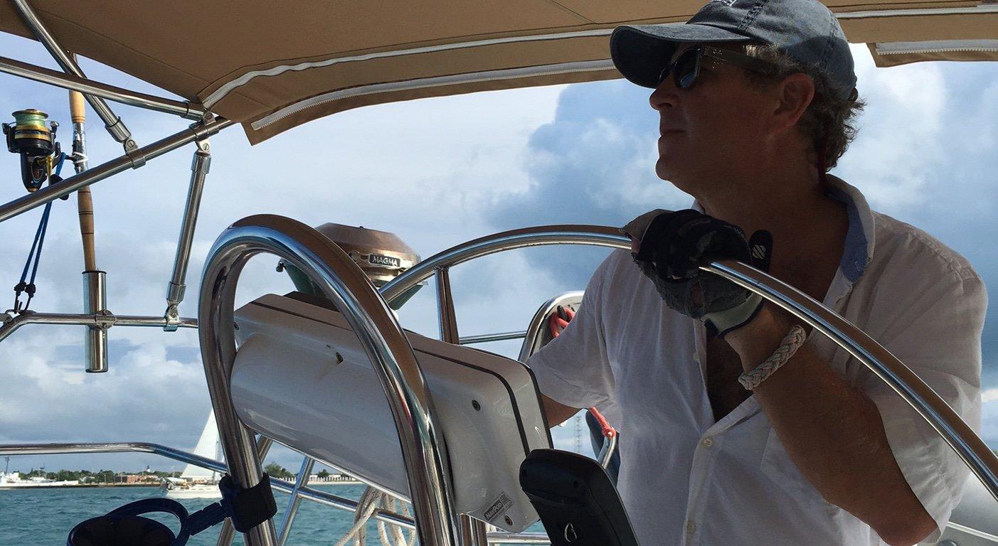 Web John at the wheel